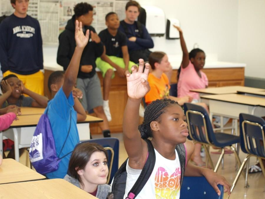 Campers and Counselors have fun learning at Camp Umoja Summer 2015.