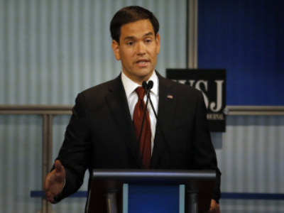 Marco Rubio appeals to voters at Tuesday's GOP Debate.