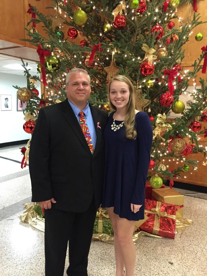 Haley Dick '16 and her father, Russell, at the 2015 Father-Daughter Dance.