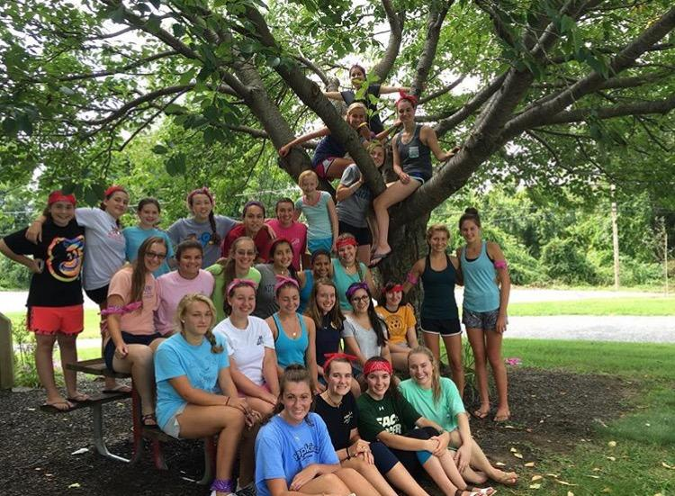 Girls pose at the end of retreat!