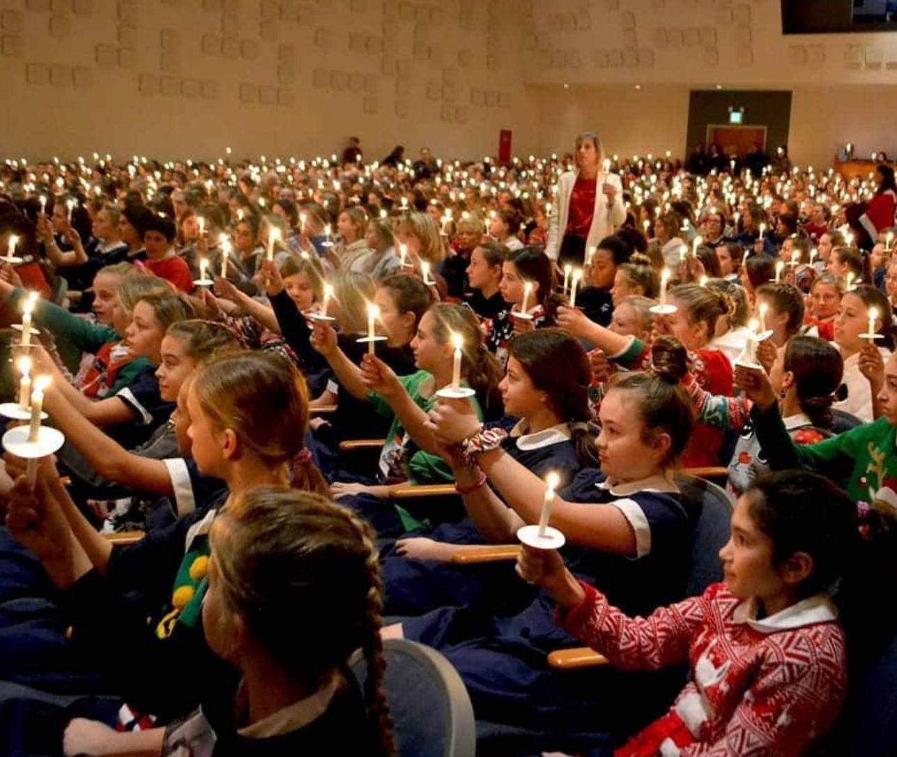 Candles at Christmas Liturgy
