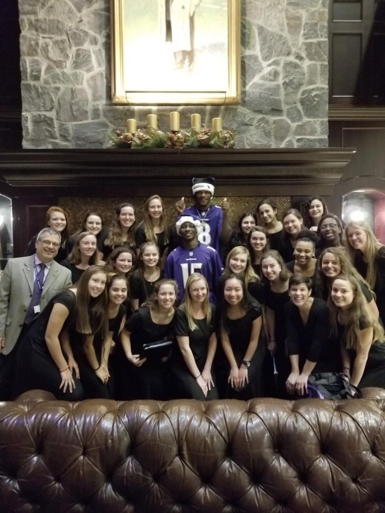 NDP Chamber Choir w/ Lamar Jackson and Hollywood Brown