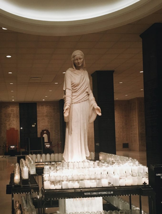This beautiful statue of Our Lady is located in the crypt of the Basilica of the National Shrine of the Immaculate Conception in Washington, D.C.