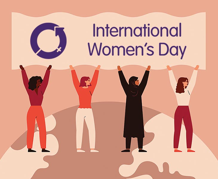Graphic created by the official International Women's Day team.