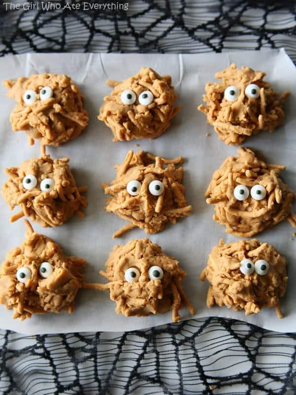 Halloween Recipes: Butterscotch Haystack Monsters